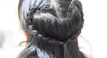編み込みヘア
