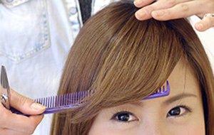 美容科実習_前髪カット